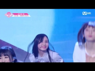 PRODUCE 48 1:1 eye contact | Арамаки Мисаки (HKT48) - Gfriend Love Whisper Team 2 group battle