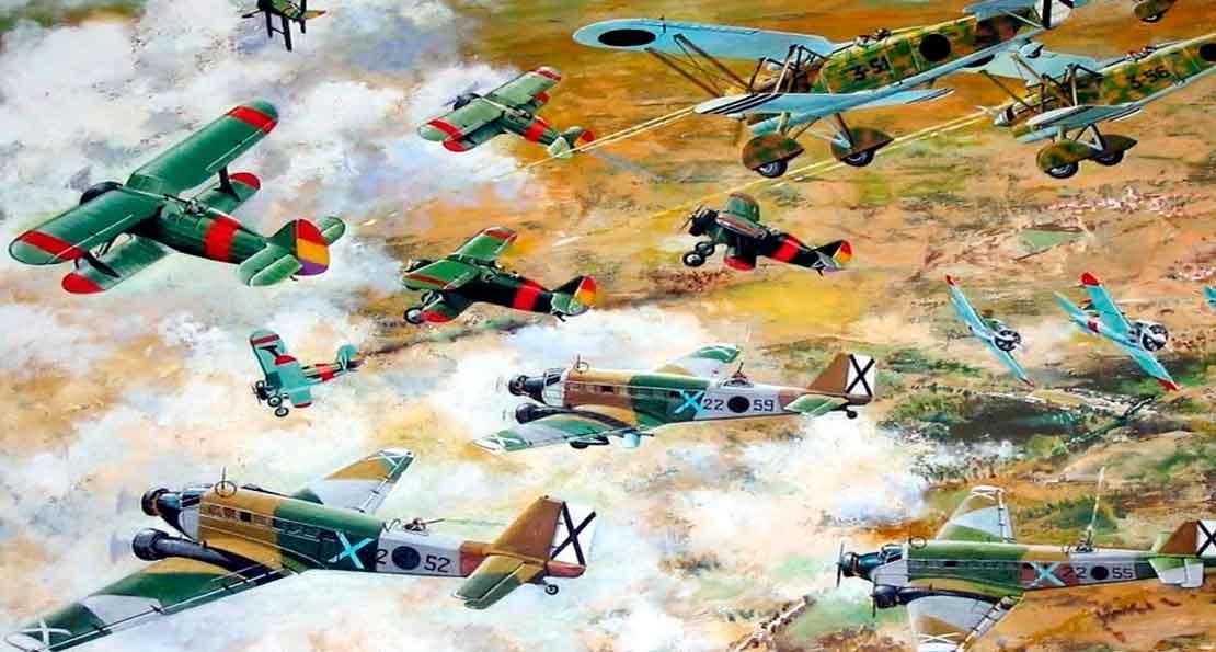 Самолеты в небе над Испанией