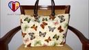 Bolsa sacola com necessaire das Borboletas II Make this fabric bag with necessaire Fabric bags