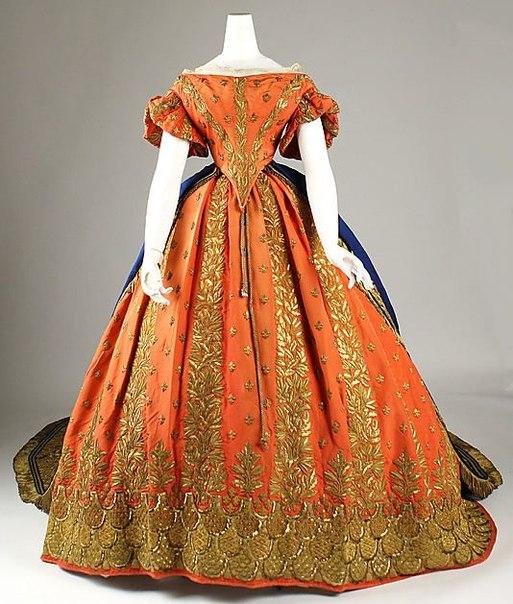 Итальянское придворное платье 1857-1860 гг.