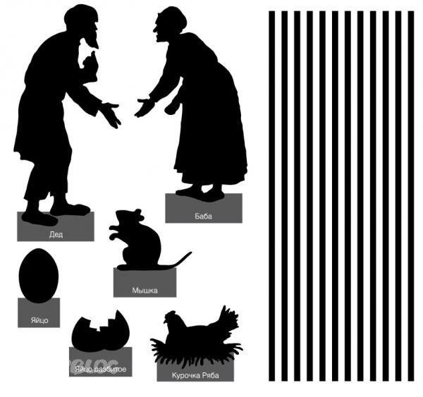 Картинки силуэтов к теневому театру Дипломная работа Иследование развития мелкой моторики и