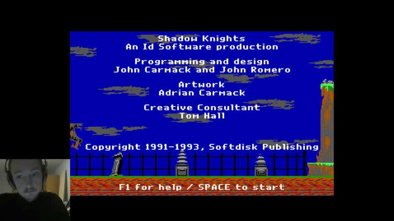 Ещё одна попытка пройти Shadow Knights (retro dos game)
