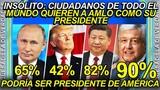 Ciudadanos extranjeros exigen que AMLO sea su presidente, el l