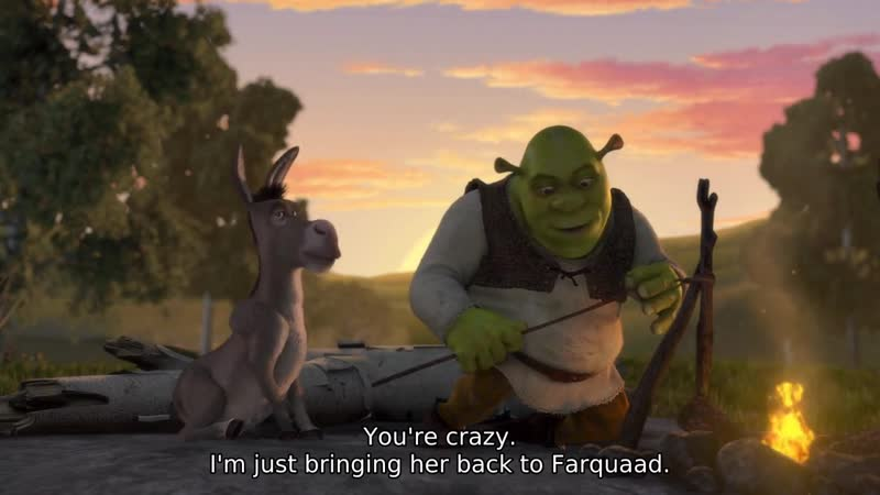 You're crazy. I'm just bringing her back to Farquaad.