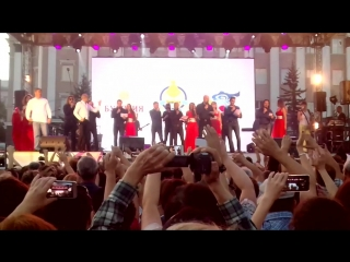 Хор турецкого и площадь Советов поют гимн Бурятии. 4.8.2018
