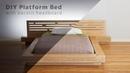 DIY Modern Plywood Platform Bed Part 1 Frame Nightstand Build Woodworking YouTube