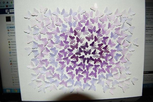 Панно из бабочек на стене своими руками