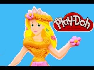 Play Doh Rapunzel Design A Dress Fashion Kit Play Dough Tangled Princess AllToyC...