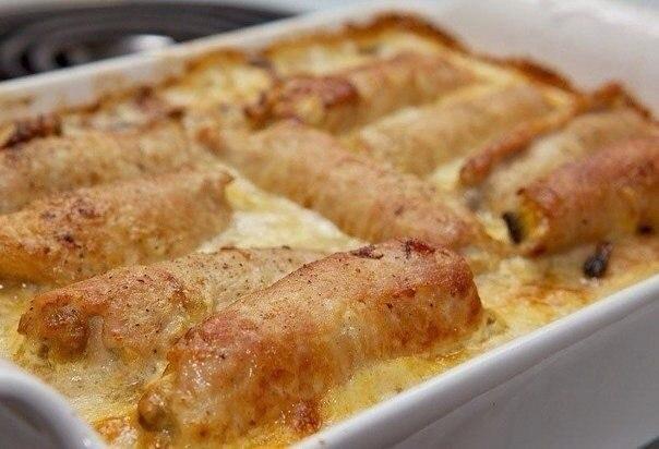 Рулетики из свинины с начинкой запеченный в духовке рецепт в