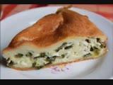 Пирог с зеленым луком и яйцом-заливной пирог. Быстрый рецепт.