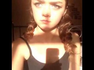 Maisie Williams Did you just say you're sizzling like a snail?