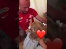 Д Глушаков с маленькой дочкой