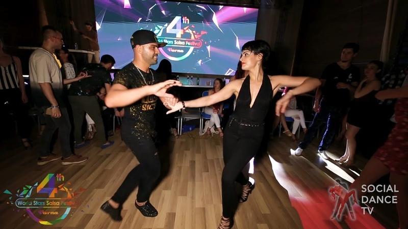 Fadi Fusion Alicia Velasco - Salsa social dancing | 4th World Stars Salsa Festival