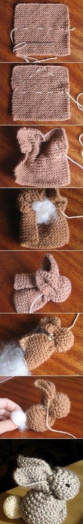 针织制作小兔子 - maomao - 我随心动