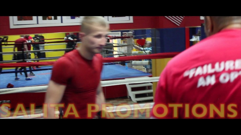 Vladimir Tikhonov world rated super bantamweight training at Kronk gym in Detroit