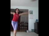 Megan doing random gymnastics