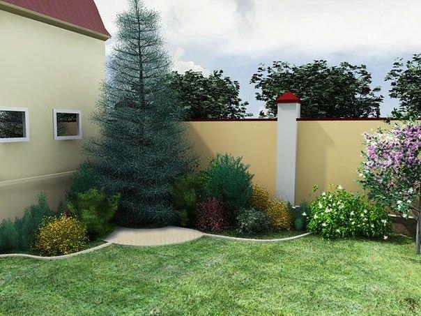 Загородный дом ландшафтный дизайн своими руками