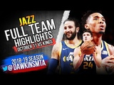 Utah Jazz Full Team Highlights 2018.10.11 vs Kings - 132 Points! FreeDawkins