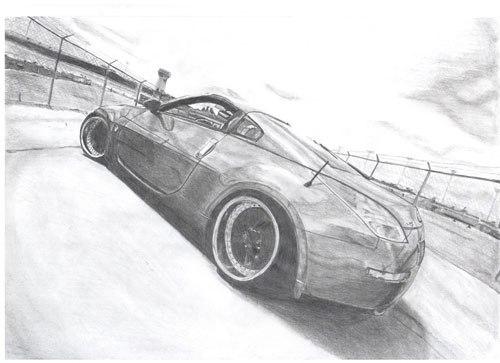 Машины нарисованные карандашом updated the