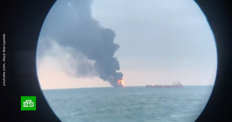 Пожар на судах в Черном море: спасательная операция превратилась в поисковую