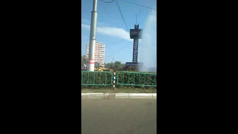 Саранск, Светотехстрой, прорыв трубы