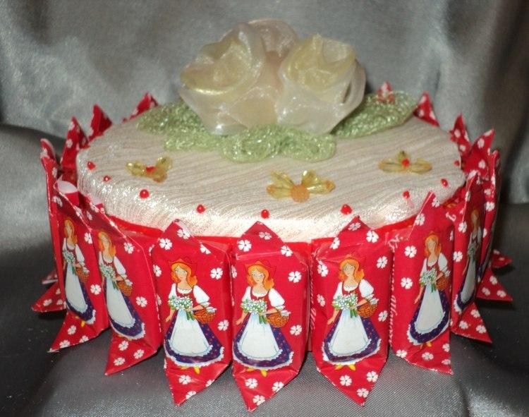 Как сделать торт из конфет фото блог