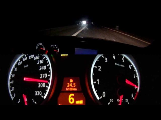 BMW M5 E60 330KM/H HIGH SPEED