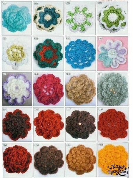 Сохраняй себе схемы цветочных узоров (8 фото) - картинка