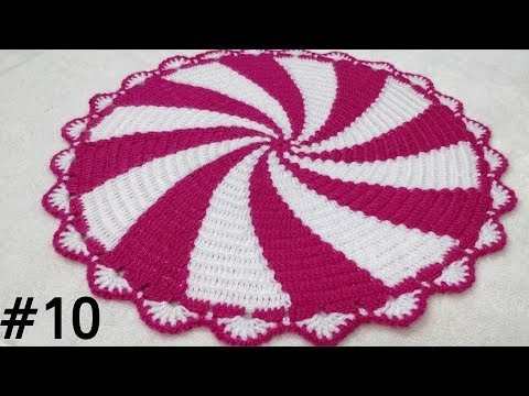 How to Crochet Spiral Thaalposh / Thaal Cover / Table Top 10