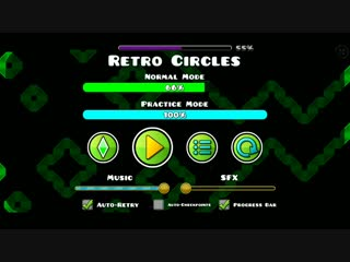 Retro Circles by Nacho21 100% on mobile | GEOMETRY DASH