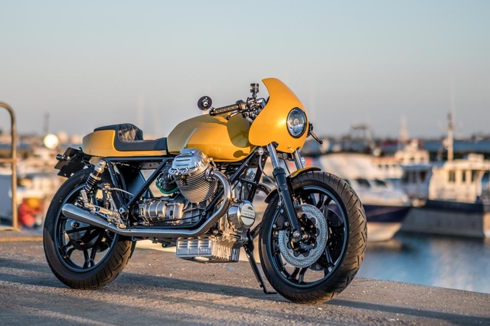 Пол Бакстон: кафе рейсер Moto Guzzi Le Mans