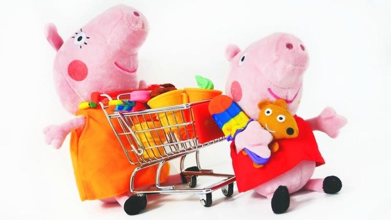 Kinder Video mit Peppa Wutz. Peppa geht einkaufen.
