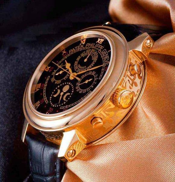 Часы Pаtеk Рhilippе Sky Mооn - самые дорогие часы в мире! Их стоимость $1.300.000 и у них 2 циферблата!