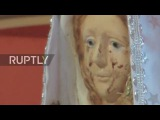 Argentina Worshippers flock to pray to Virgin Mary statue that 'cries blood'