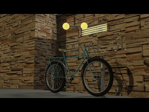 3Ds Max bicycle modeling tutorial 2016 - part 8