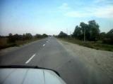 УАЗ на ВЛ-30 на асфальте.тракторная резина.асфальт.