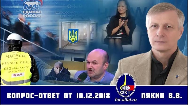Otázka - Odpověď V.V. Pjakina ze dne 10.12.2018 Titulky CZ