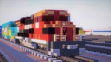 Minecraft Ferromex Mexico ES44AC Diesel Train Tutorial