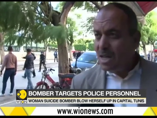 Woman bomber blows herself up in Tunisia