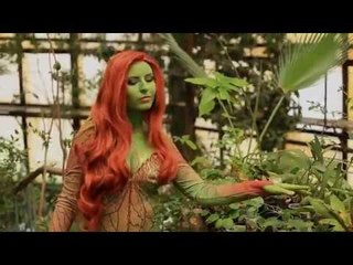 Cosplay Poison Ivy - backstage