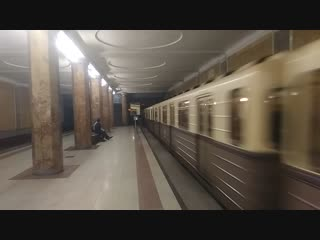 Ретро-поезд Сокольники на станции Красносельская 29.12.2018