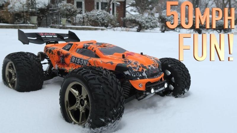 UNBOXING BASHING! - 50 MPH BISON V2 RC SUPER TRUCK - Vkar Racing Brushless FULL REVIEW