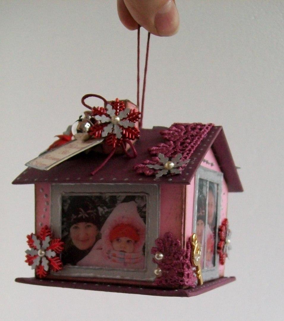 Новогодняя игрушка своими руками из коробки