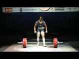 El Belghitti Hassan (Франция) - попытка установить рекорд мира в тяге 321,5