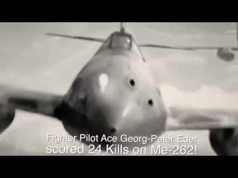 Me 262 Düsenjäger kills B 17! Luftwaffe Ace Major Georg Peter Eder