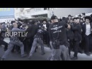 Israel Police clash with protesters at ultra Orthodox military draft protest