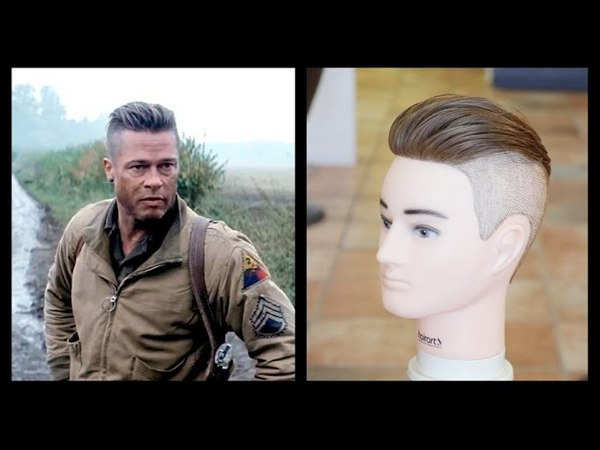 Brad Pitt Fury - Mens Haircut Tutorial - TheSalonGuy
