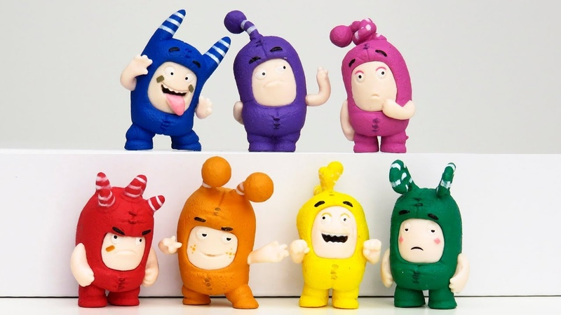 Learn english colors with Oddbods toys playclaytv