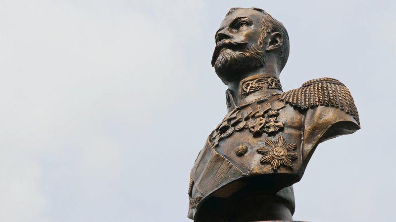 В Волгоградской области установлен бюст царю-мученику Николаю II. Олег Бельченко.
