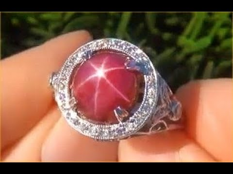 Antique GIA Certified Burma Star Ruby Diamond Ring Certified Unheated Untreated